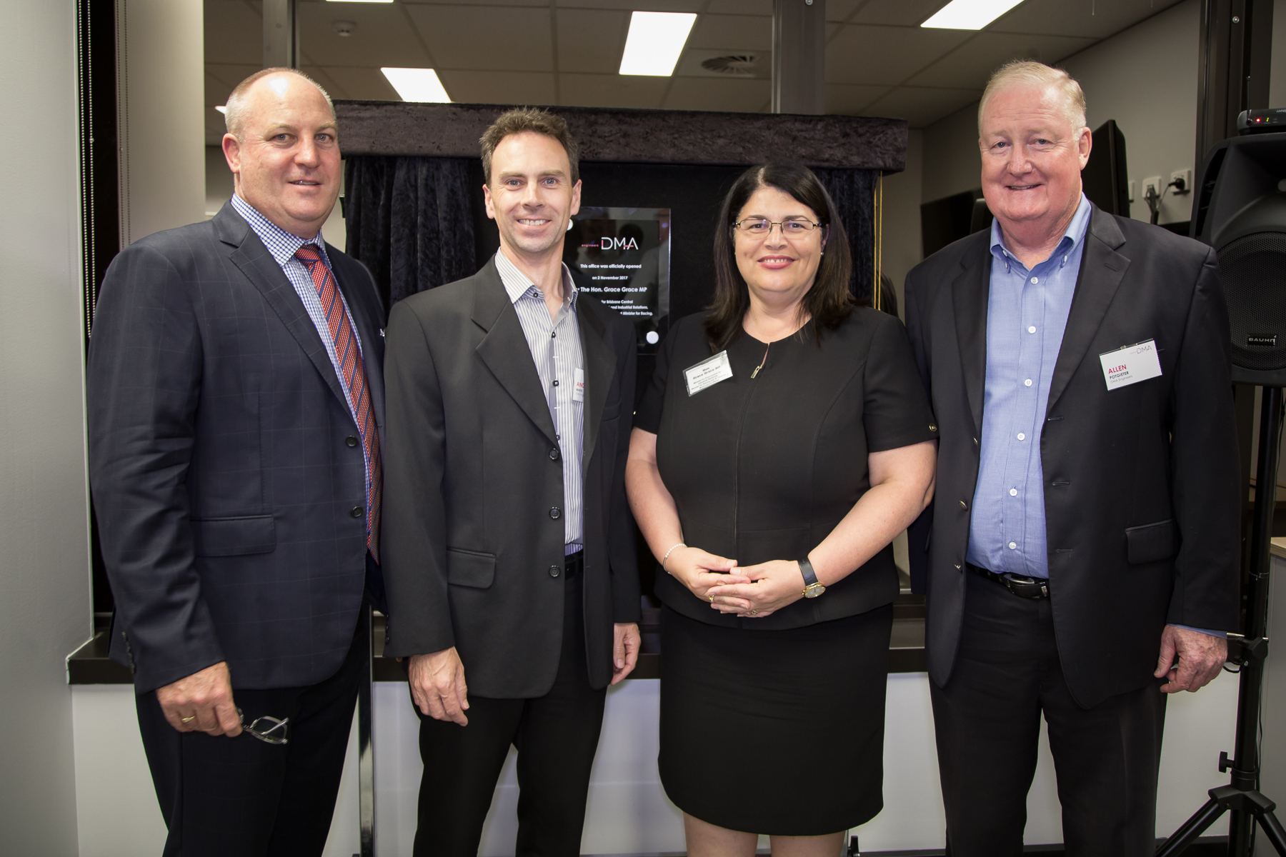 Hon. Grace Grace MP opens new Spring Hill office for DMA Engineers