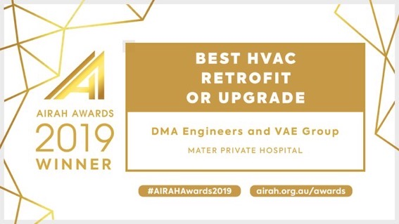 2019 AIRAH HVAC Retrofit or Upgrade Winner